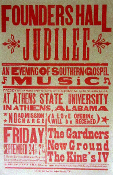 Founder's Hall Jubilee Gospel Music 2004 Hatch Show Print