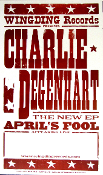 Charlie Degenhart New EP April's Fool Tour Blank Hatch Show Prin