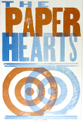 The Paper Hearts 2003(?) Hatch Show Print