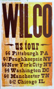 Wilco US Tour 6-6 to 6-12 2004 Pittsburgh, NYC, Hatch Show Print