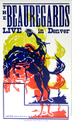 The Beauregards Live In Denver tour blank 2003 Hatch Show Print