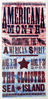 Americana Month Aug 2005 The Cloister Sea Island Hatch Show Prin