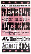 Friends For Life 11th Bluebird Cafe Jan 2004 Hatch Show Print