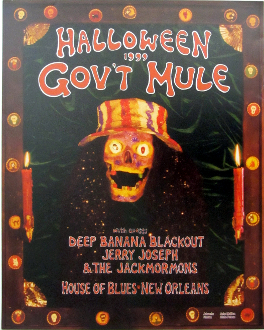 Govt Mule Halloween 1999 House Of Blues NO