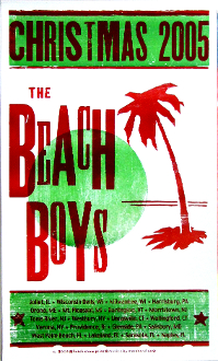 Beach Boys Christmas 2005 Tour Hatch Show Print