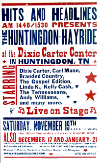 Dixie Carter Center 2005 Huntingdon Hayride Hatch Show Print