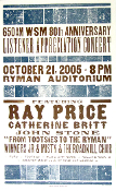 Ray Price 2005 Ryman Aud 650AM WSM Hatch Show Print