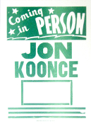 Jon Koonce Coming In Person Tour Blank 2005 Hatch Show Print