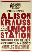 Alison Krauss Union Station Acuff Theatre 2005 Hatch Show Print