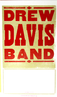 Drew Davis Band Tour Blank 2004 Hatch Show Print