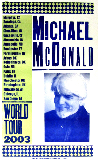 Michael McDonald World Tour 2003 Hatch Show Print