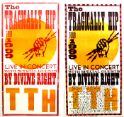 Tragically Hip 1999 Tour poster color progression set Hatch Show