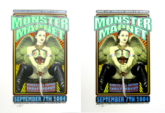 Monster Magnet Independent SF 2007 Ron Donovan Screen Print set