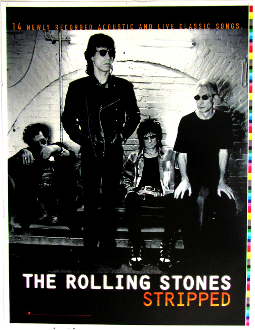 The Rolling Stones Stripped movie poster uncut
