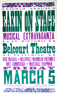 EAKIN On Stage 8th Annual Belcourt Theatre 2004 Hatch Show Print