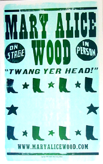 Mary Alice Wood 2005 Tour blank Hatch Show Print