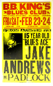 Jake Andrews at BB Kings LA 1997 Hatch Show Print