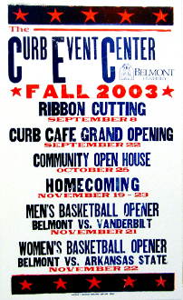 Curb Event Center Opening Poster Fall 2003 Hatch Show Print
