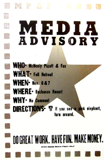 Media Advisory McNeely Pigott & Fox 2003 Fall Retreat