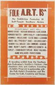 Folk ART is * traveling Exhibition 2005 Hatch Show Print