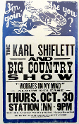 Karl Shiflett and Big Country Show 2003 Hatch Show Print