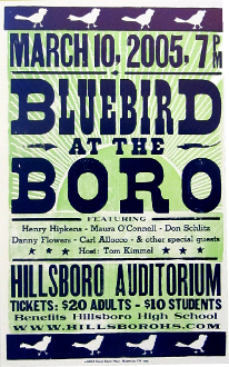 Bluebird At The Boro 2005 Hatch Show Print poster NM cond