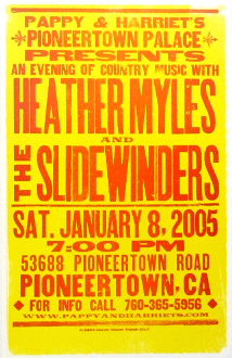 Heather Myles and The Sidewinders 2005 Pioneer Town Palace