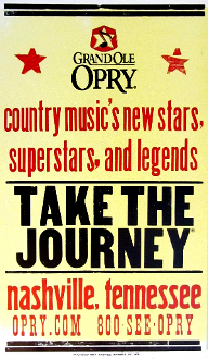 Grand Ole Opry Take The Journey Nashville Hatch Show Print
