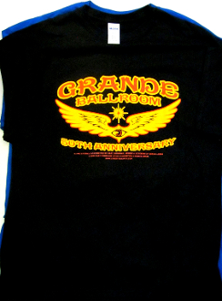 Grande Ballroom 50th Anniversary T-Shirt by G. Grimshaw and DL