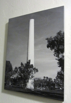 Cowell Smokestack #1 (b/w) 16x20 canvas Giclee Wall Hanging