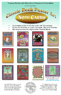 Classic Rock Poster Art Note Cards Thomas Morris