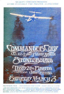 Commander Cody Stockton 1974 Terry And The Pirates 13x19 tIII