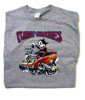 Flamin' Groovies Red Hot Rod T-Shirt - 2-XL Art by Cyril Jordan