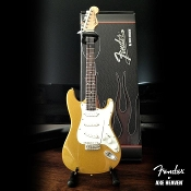 Fender Gold metalic Strat cardboard case and stand