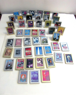 Gold - 3 mini easel back or Magnet picture frames 1 7/8x2 5/8