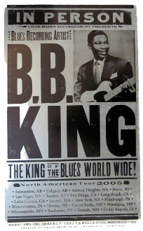 BB King NA Tour 2005 Hatch Show Print Edmonton-Cedar Rapids