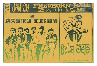 Paul Butterfield Bola Sete UC Davis Freeborn Hall 1967 poster
