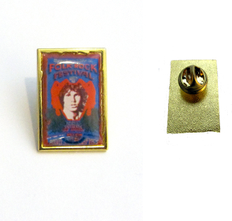 Northern CA Folk-Rock Festival 50th Anniversary Gold Lapel Pin