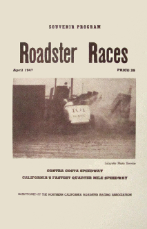 Pacheco Speedway April 1947 souvenir program poster 11x17