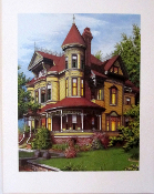 Art Print - Queen Anne Victorian House By Lawrence R. McKee.