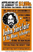 John Sinclair and His Blues Scholars 2003 screenprint