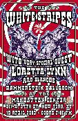 White Stripes / Loretta Lynn - NYC - screenprint